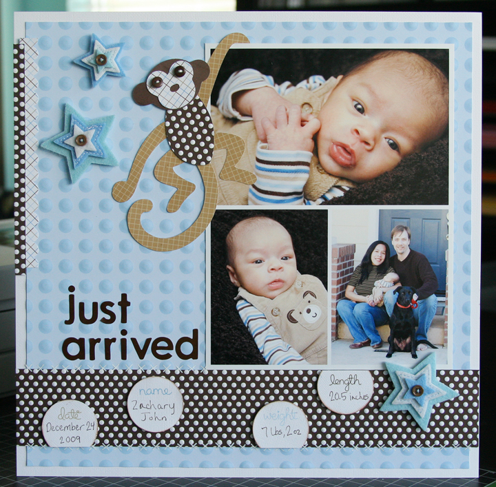 Just Laura Just Arrived A Pebbles Layout