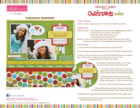 CHRISTMAS WISHES PROJECT SHEET
