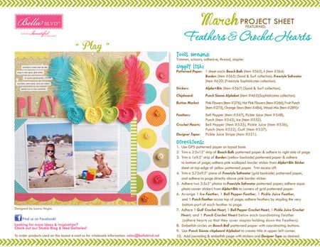2013 MARCH PROJECT SHEET-FEATHERS AND HEARTS
