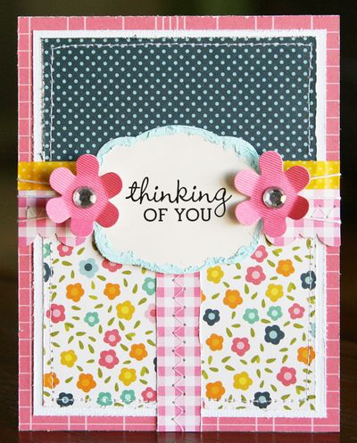 Just Laura Scrapbook Cards Today Thinking Of You Card