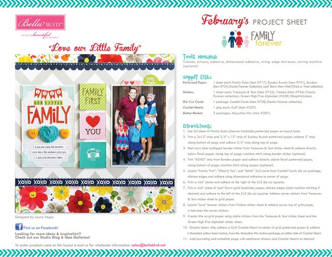 2-2014 BBLVD FAMILY FOREVER PROJECT SHEET